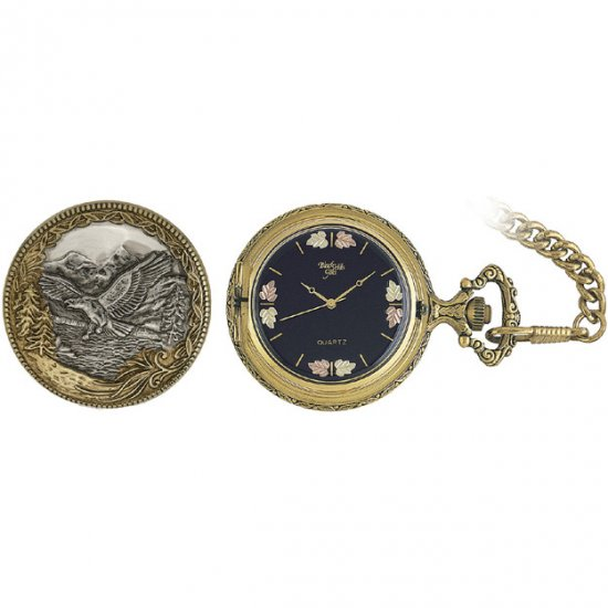 Black Hills Gold Pocket Watch Flying Eagle