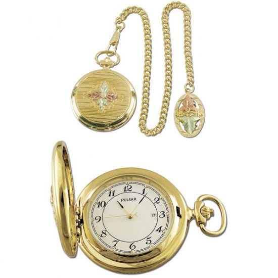 Black Hills Gold Pocket Watch Chain & Fob
