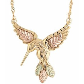 Black Hills Gold Pendant Necklace Hummingbird