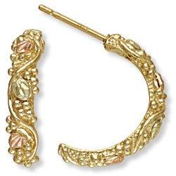 Black Hills Gold 1/2 Hoop Post Earrings