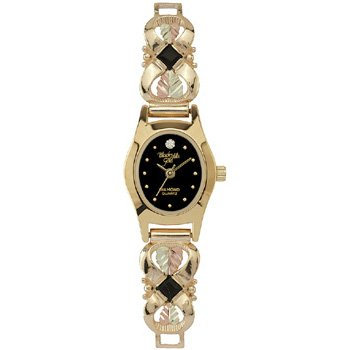 Black Hills Gold Watch Ladies Diamond Black Onyx