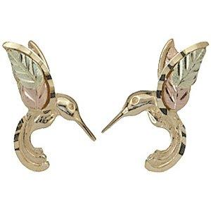Black Hills Gold Earrings Hummingibrd Post