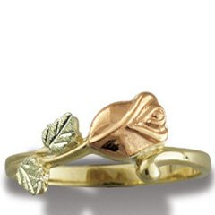 Black Hills Gold Rose Ladies Ring