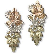 Black Hills Gold Silver Dangle Post Earrings