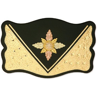Black Hills Gold Western Rectangular Belt Buckle