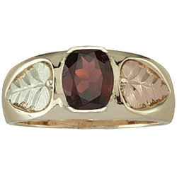 Black Hills Gold Ring Mens And Garnet