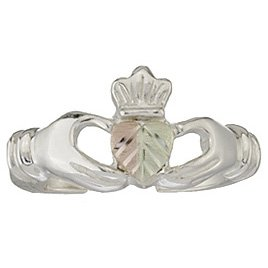 Black Hills Gold Toe Ring On Silver Irish Claddagh