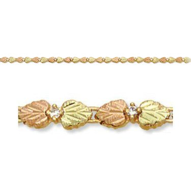 Black Hills Gold Diamond Tennis Bracelet .42 TDW