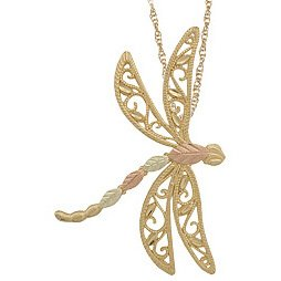 Black Hills Gold Necklace Dragonfly