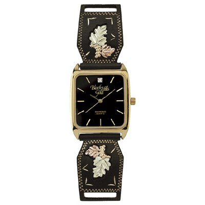 Black Hills Gold Watch Mens Diamond Quartz
