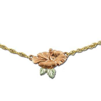 Black Hills Gold Hibiscus Rose Gold Anklet