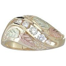 Black Hills Gold Ring Ladies 5 Diamond .23 TDW