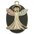 Black Hills Gold Necklace Angel Black Onyx