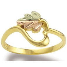 Black Hills Gold 10K Gold Heart Of Vines Ladies Ring