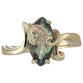 Black Hills Gold Ring Ladies Mystic Fire Topaz