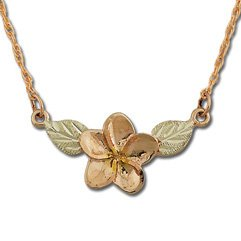 Black Hills Gold Plumeria Pendant / Necklace