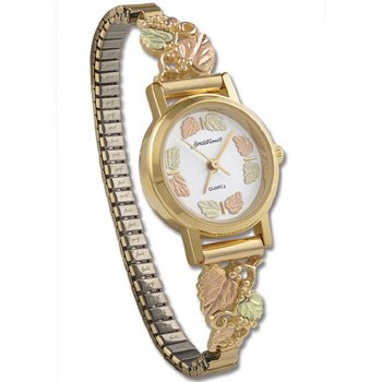 Black Hills Gold 14 Leaf Quartz Ladies Wrist Watch