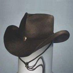 Shady Brady Cowboy Hat Black Toyo Straw Concho Leather Band & Chin Strap Medium