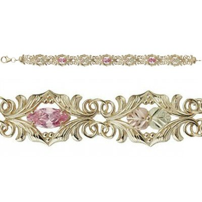 Black Hills Gold Bracelet Pink Ice Very Beautiful