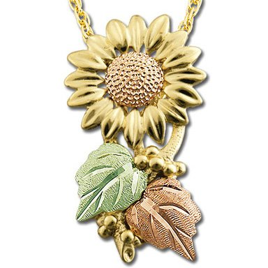 Black Hills Gold Sunflower Necklace