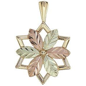 Black Hills Gold Necklace Star Of David Pendant