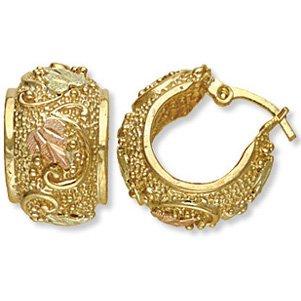 Black Hills Gold 10K Yellow Gold Hoop Earrings