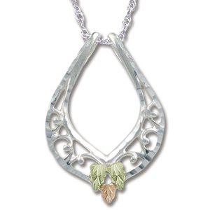 Black Hills Gold On Sterling Silver Filigree Necklace