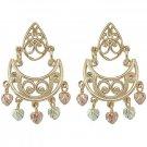 Black Hills Gold Earrings Scrolls Dangle Post