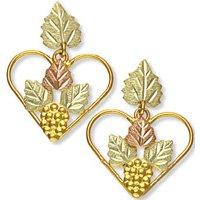Black Hills Gold Heart Shaped Post Earrings