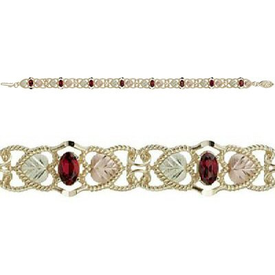 Black Hills Gold Bracelet Garnet Very Beautiful