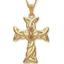 Black Hills Gold Celtic Cross Necklace