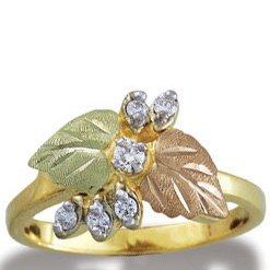 Black Hills Gold 6 Diamond Ladies Ring .15