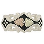 Black Hills Gold Ring Ladies Antiqued Sterling Silver