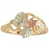 Black Hills Gold Ring Ladies Rose & Vines
