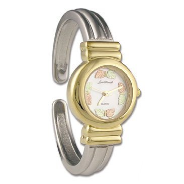 Black Hills Gold 8 Leaf Cuff Ladies Wrist Watch