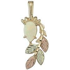 Black Hills Gold Necklace Opal Cabochon