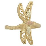 Black Hills Gold Ring Ladies Dragonfly Highly Detailed