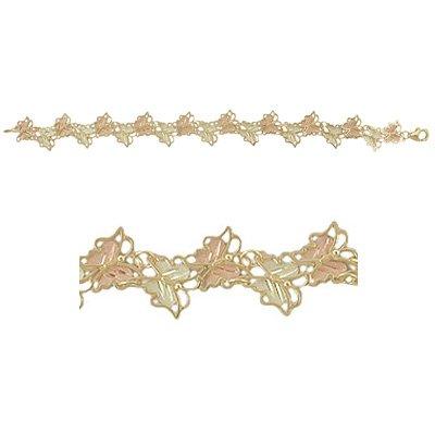 Black Hills Gold Bracelet Butterflies Solid Gold - Very Beautiful!