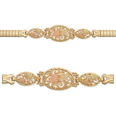 Black Hills Gold Bracelet With Expansion Band -Elegant!