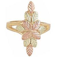 Black Hills Gold Ring Ladies 12 Leaf Cluster