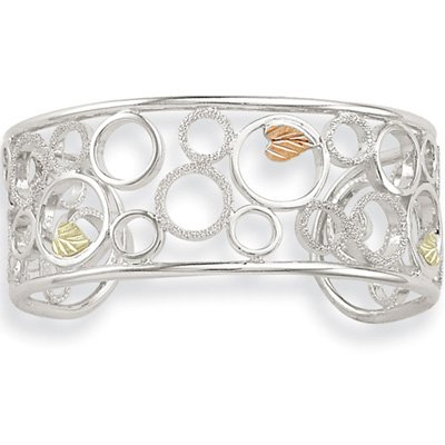 Black Hills Gold Eternal Circles Sterling Silver Cuff Bracelet