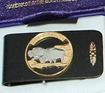 Black Hills Gold North Dakota State Quarter Money Clip