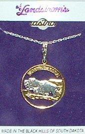 Black Hills Gold North Dakota State Quarter Necklace