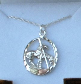 Black Hills Gold Necklace End Of The Trail Sterling Silver