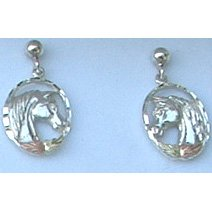 Black Hills Gold Earrings Leaves Sterling Silver Horse Post
