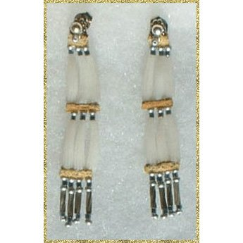 Native American Dentalium Post Earrings By Chris Westerman