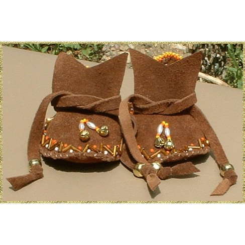 Native American Moccasins Infant Beaded By Vienna Gourneau