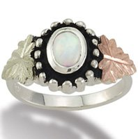 Black Hills Gold Lab Created Opal Sterling Silver Ring