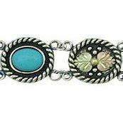 Black Hills Gold Bracelet Turquoise Sterling Silver