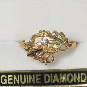 Black Hills Gold Diamond .05 Exquisite Ladies Ring